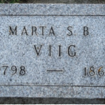One of the first gravestones